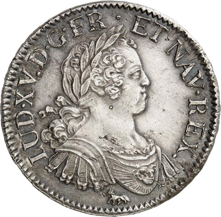 FRANCE Louis XV (1715-1774). Écu aux 8 L 1725, Paris.