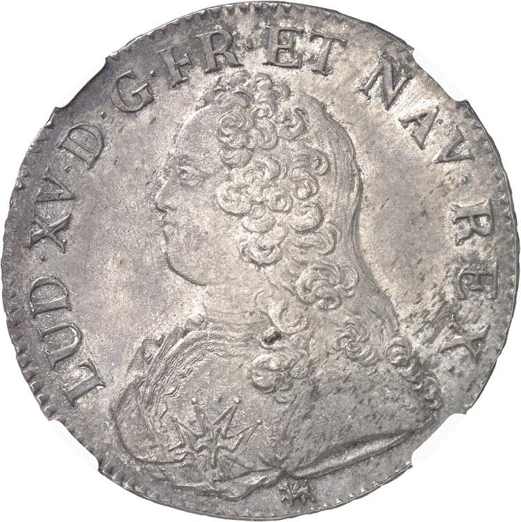 FRANCE Louis XV (1715-1774). Écu aux lauriers 1726, La Rochelle.