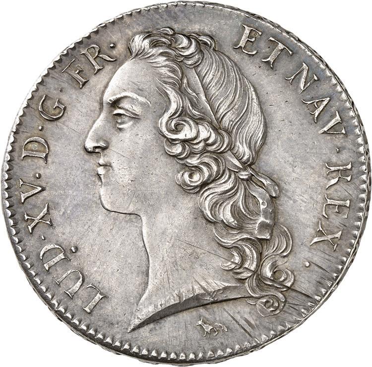 FRANCE Louis XV (1715-1774). Écu au bandeau 1740 2° semestre, Paris.