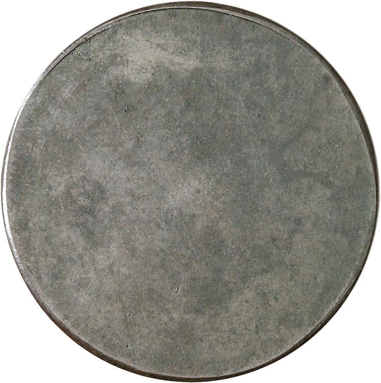 MONACO Honoré V (1819-1841). 2 francs 1838, essai uniface du revers en cuivre.