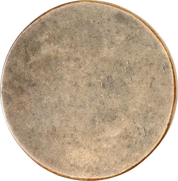 MONACO Honoré V (1819-1841). 2 francs, essai uniface du revers à la date incomplète en cuivre 183-.