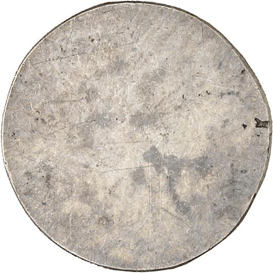 MONACO Honoré V (1819-1841). Quart de franc, essai uniface en argent du revers à la date incomplète 183-.