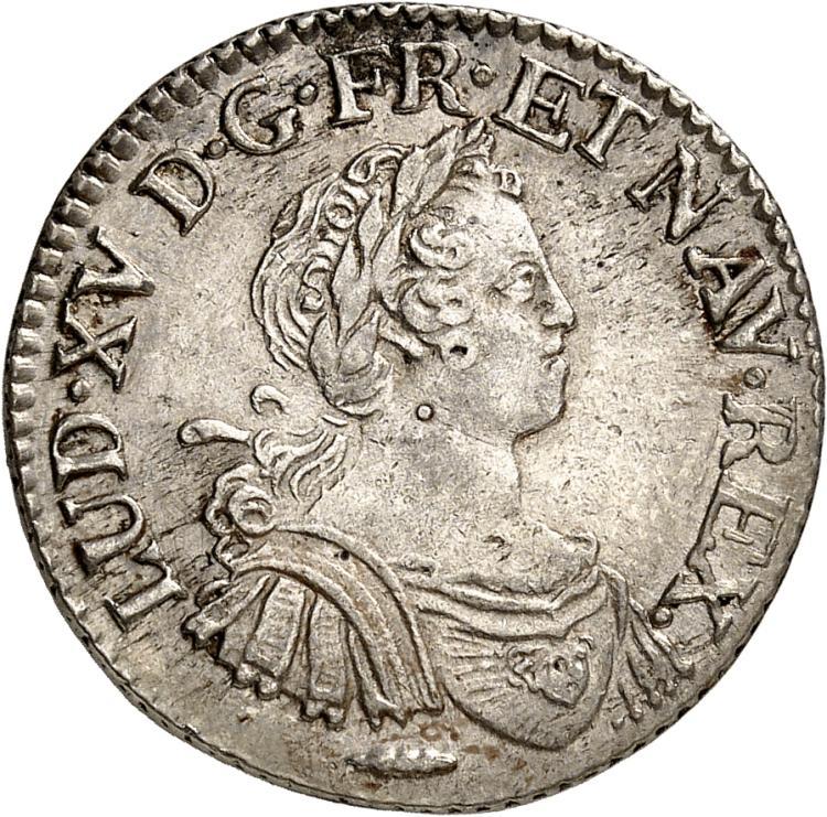 FRANCE Louis XV (1715-1774). 1/4 écu aux 8 L 1725, Amiens.