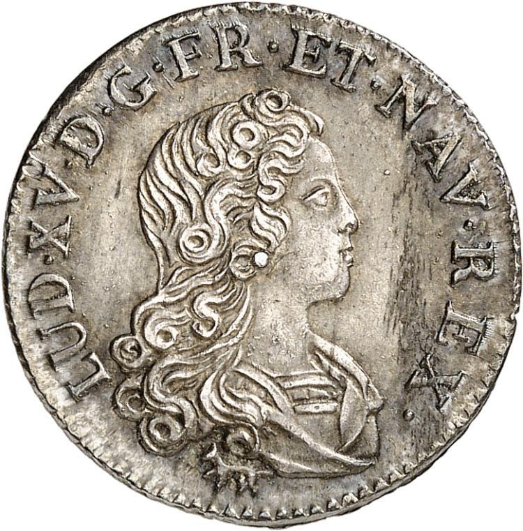 FRANCE Louis XV (1715-1774). Livre d'argent de la « Compagnie des Indes » 1720, Paris.