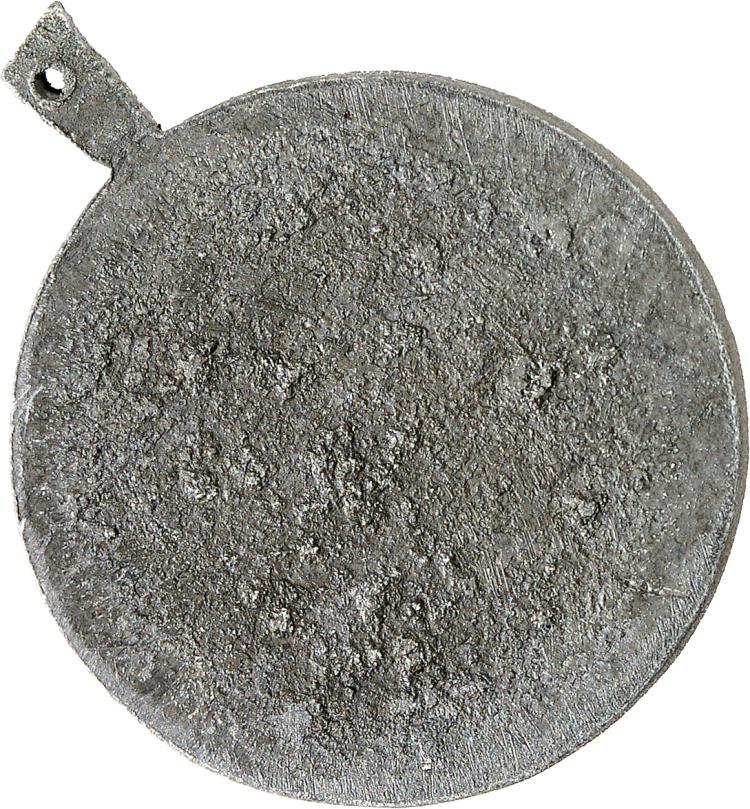 MONACO Honoré V (1819-1841). Médaille au module du 5 centimes 1837, épreuve du revers en plomb.