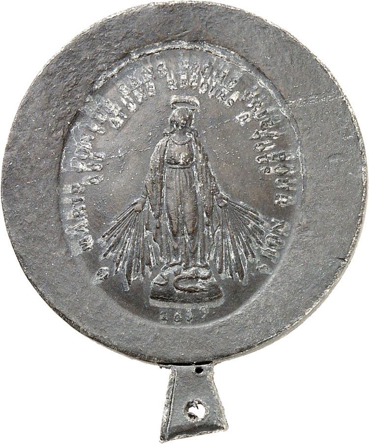 MONACO Honoré V (1819-1841). Médaille 1837, épreuve de l'avers en plomb.