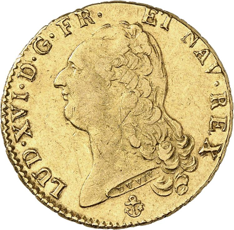 FRANCE Louis XVI (1774-1792). Double louis d'or 1786, La Rochelle.