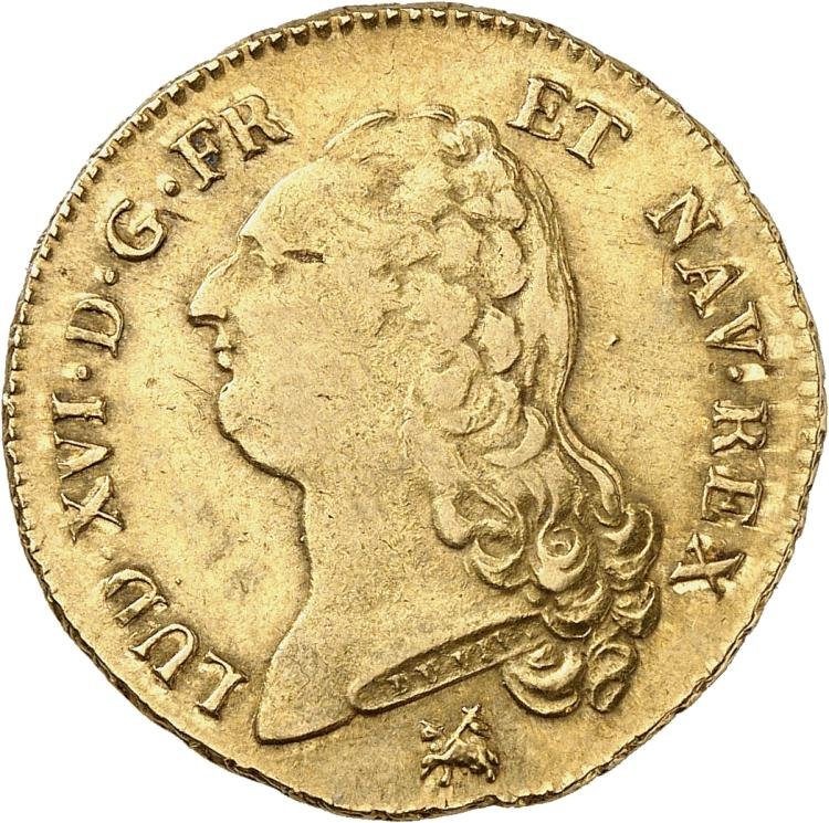 FRANCE Louis XVI (1774-1792). Double Louis d'or 1791, Rouen.