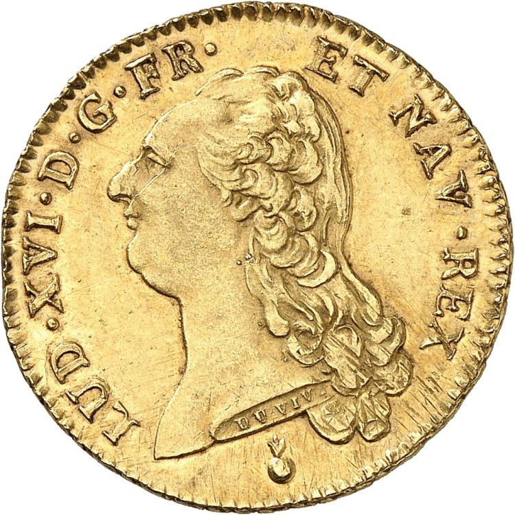 FRANCE Louis XVI (1774-1792). Double Louis d'or 1791, Metz.