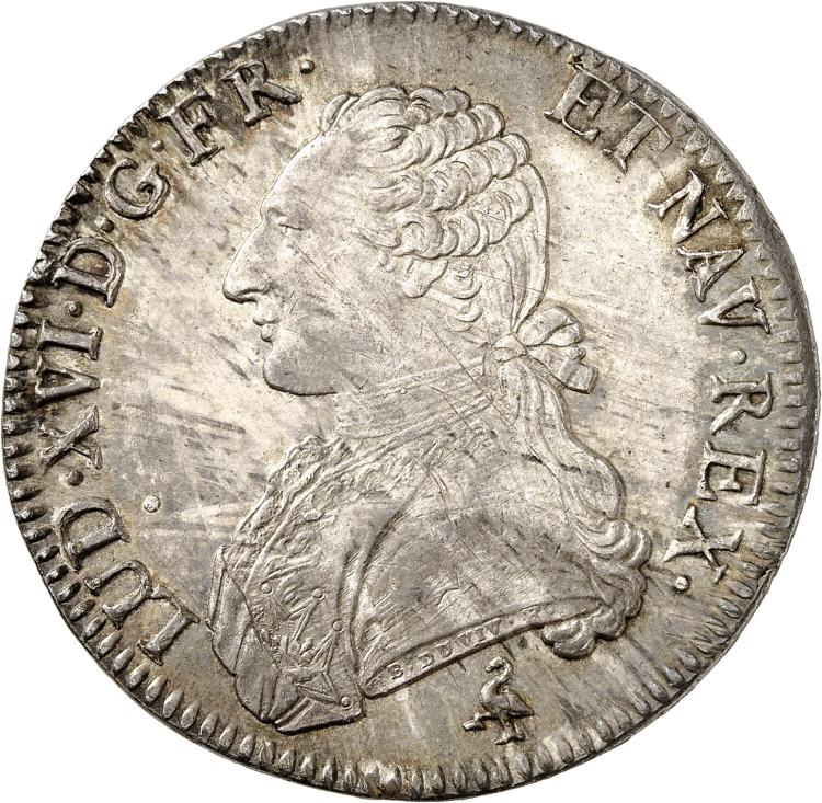 FRANCE Louis XVI (1774-1792). Écu 1783, Paris.