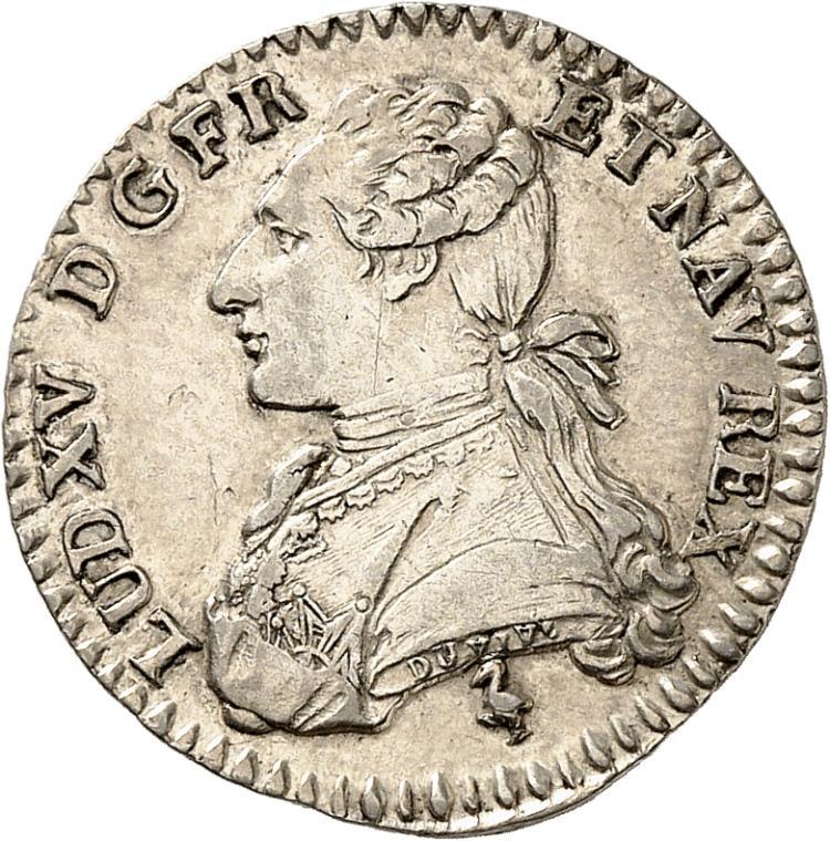 FRANCE Louis XVI (1774-1792). 1/10 écu 1785, Paris. Variété LUD XV au lieu de LUD XVI.