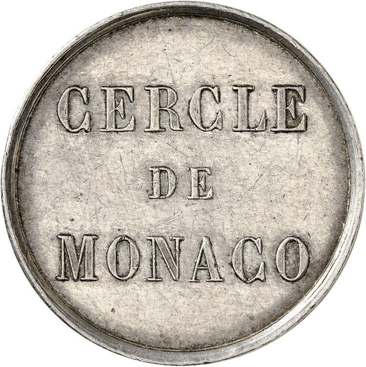 MONACO Charles III (1853-1889). Cercle de Monaco, jeton de
