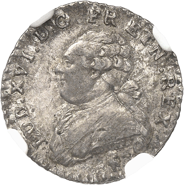 FRANCE Louis XVI (1774-1792). 1/20 d'écu 1783, Paris.