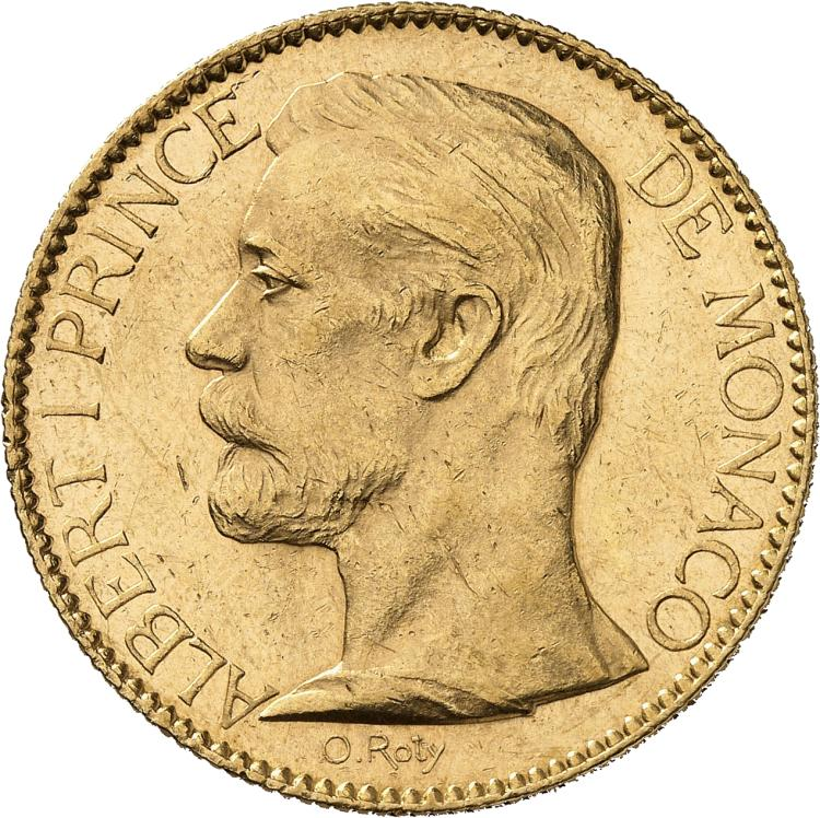 MONACO Albert Ier (1889-1922). 100 francs 1896.