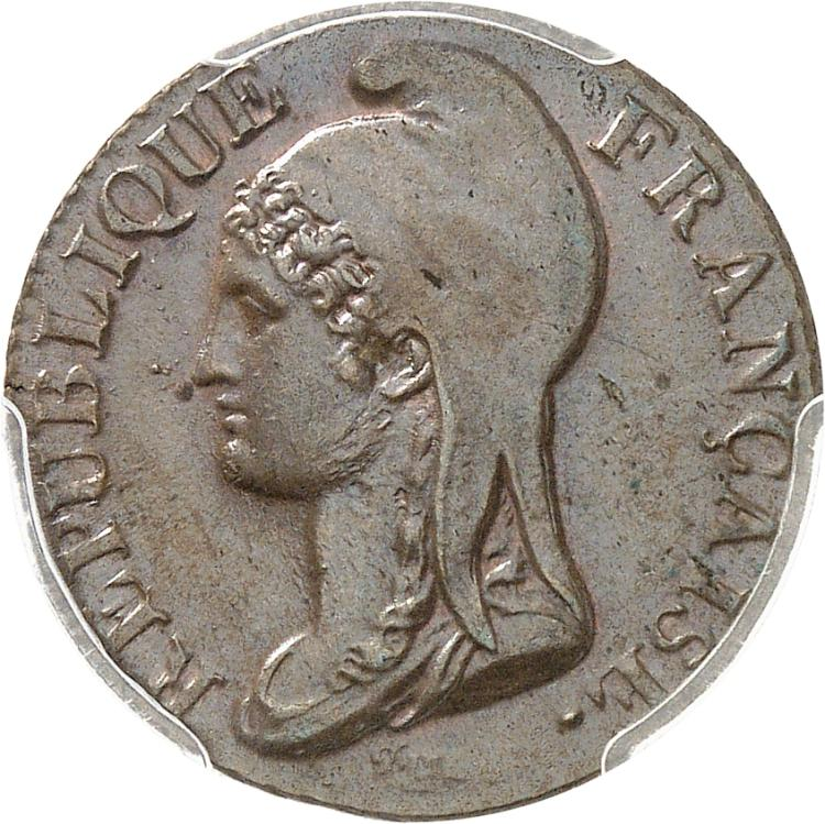 FRANCE Directoire (1795-1799). 5 centimes An 4 Paris.