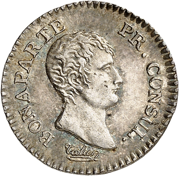 FRANCE Consulat (1799-1804). Quart de franc An 12, Paris.