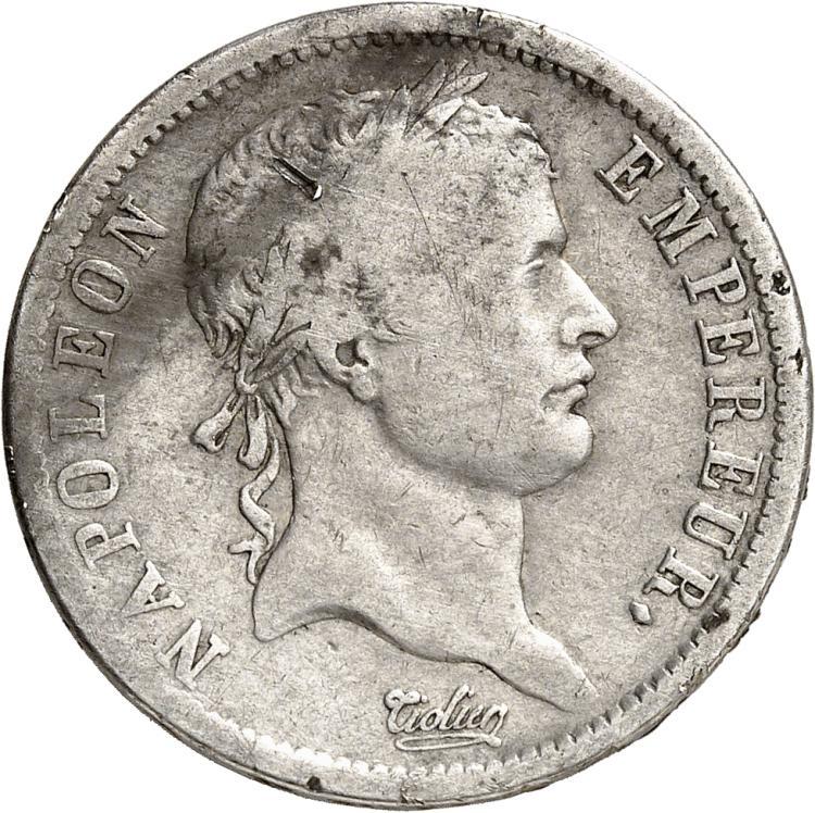 FRANCE Premier Empire (1804-1814). 2 francs 1809, Turin.