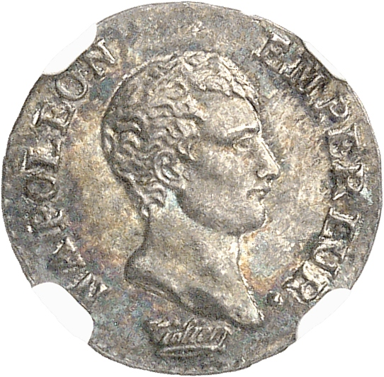 FRANCE Premier Empire (1804-1814). Quart de franc an 13, Turin.