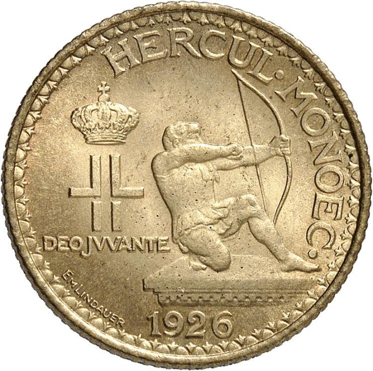 MONACO Louis II (1922-1949). Franc 1926.