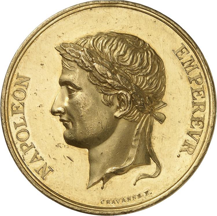 FRANCE Premier Empire (1804-1814). Médaille en or non datée, Ecole Impériale de dessin de Lyon, par Chavanne.