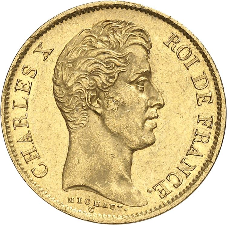 FRANCE Charles X (1824-1830). 40 francs 1830, Paris.