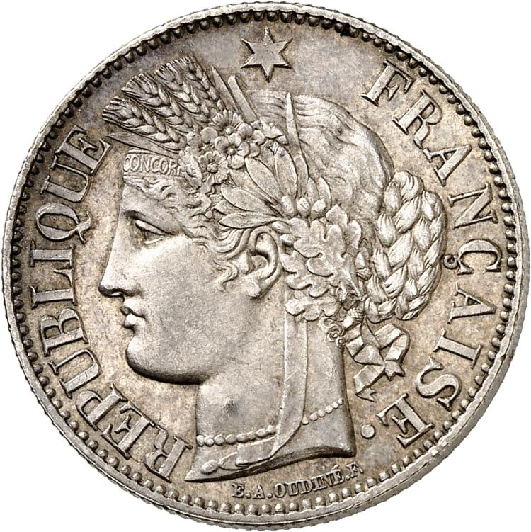 FRANCE II° République (1848-1852). 2 francs 1850, Paris.