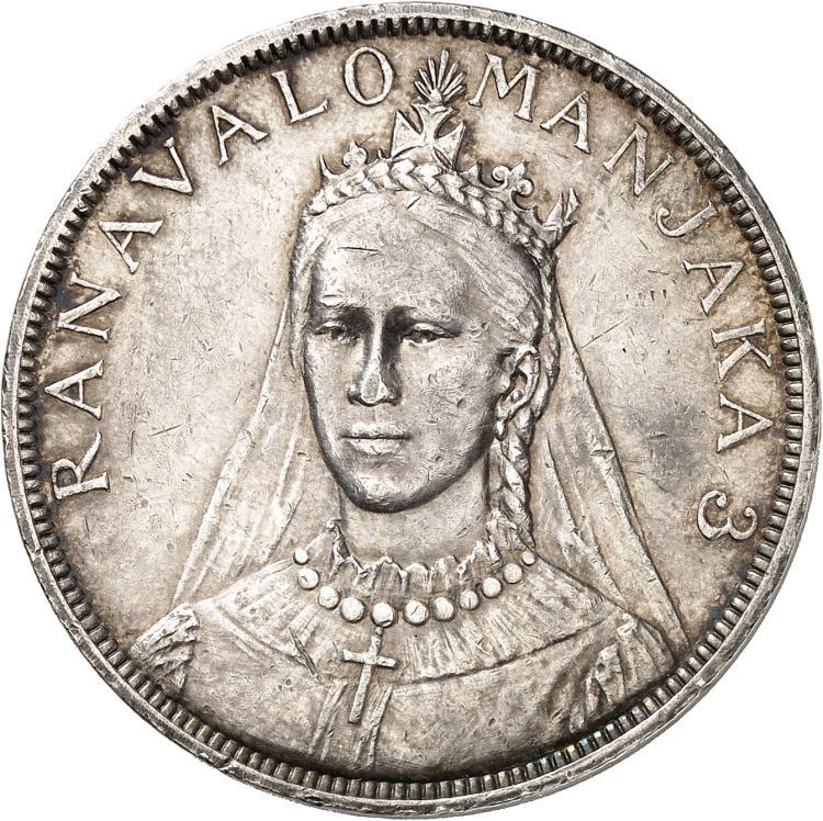 MADAGASCAR Ranavalona III (1883-1897). Module de 5 francs 1896.