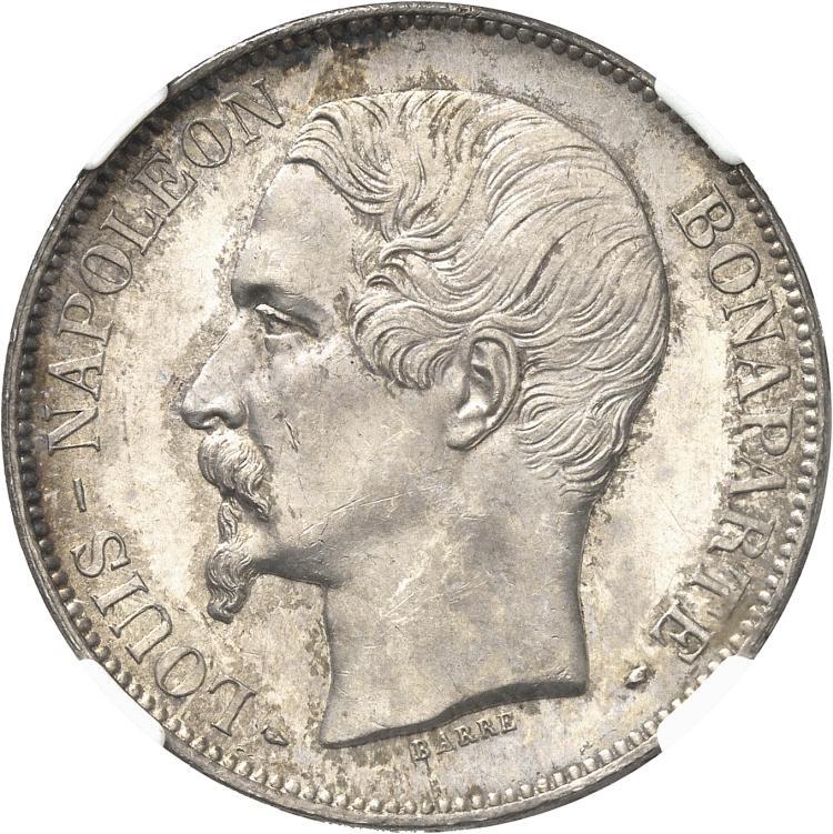 FRANCE Louis Napoléon Bonaparte (1851-1852). 5 francs 1852, Paris.