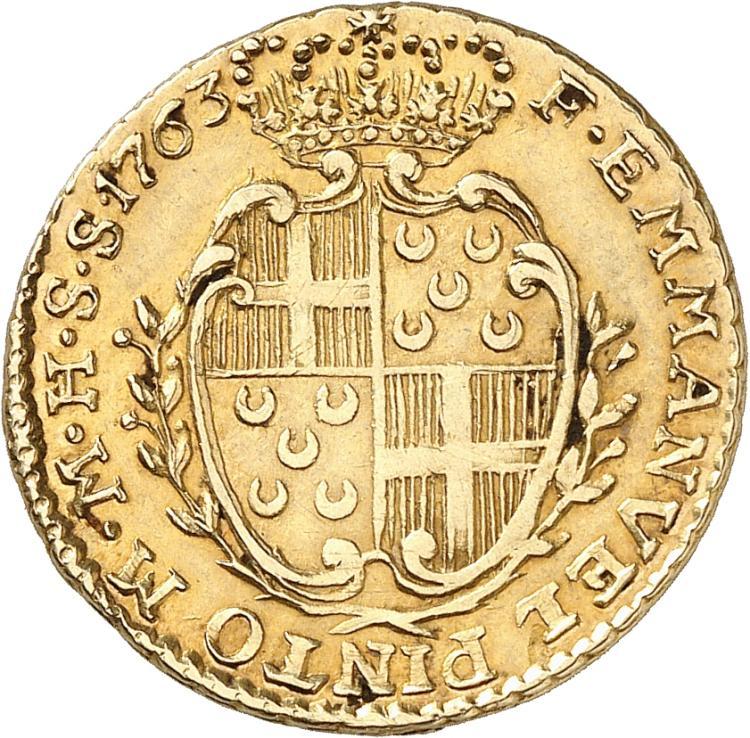 MALTE Emmanuel Pinto (1741-1773). 10 scudi 1763, Valletta.