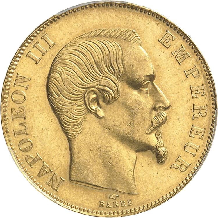 FRANCE Napoléon III (1852-1870). 50 francs or 1857, Paris.