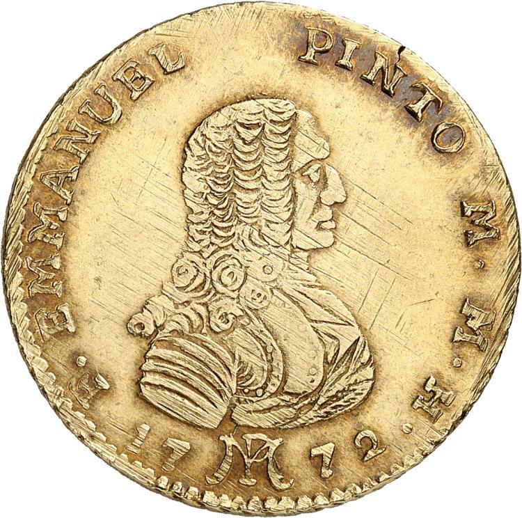 MALTE Emmanuel Pinto (1741-1773). 20 scudi 1772, Valletta.