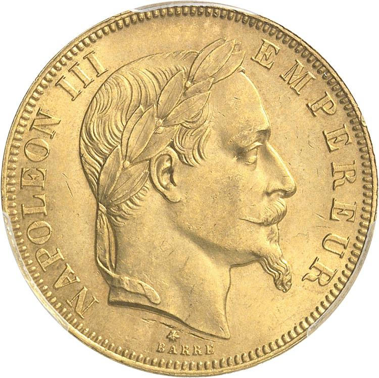 FRANCE Napoléon III (1852-1870). 50 francs or 1862 Paris, 6 sur 5.