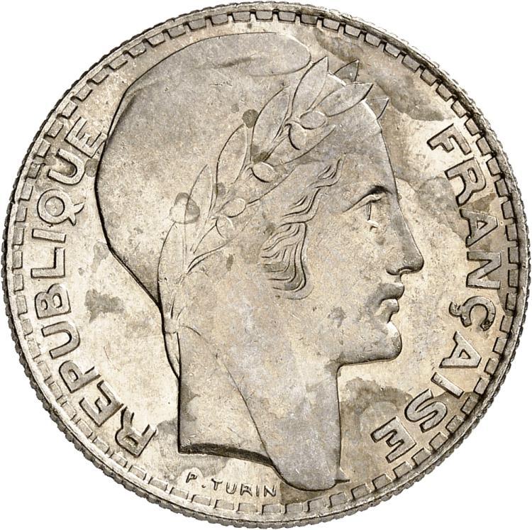 MAROC Mohammed V (1927-1961 - H 1346-1380). Épreuve en nickel du 10 francs Turin, non daté (1927-1346).