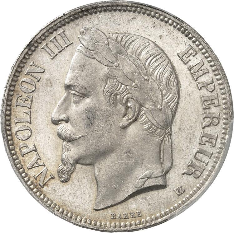 FRANCE Napoléon III (1852-1870). 5 francs 1869, Strasbourg.