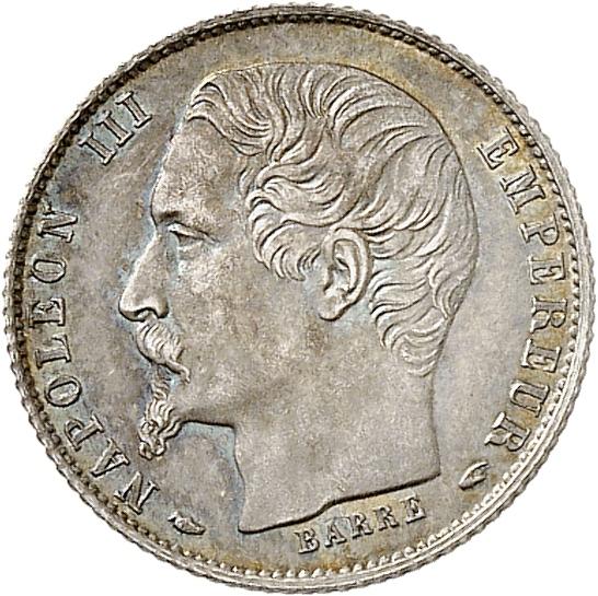 FRANCE Napoléon III (1852-1870). 20 centimes 1853, Paris, grosse tête.