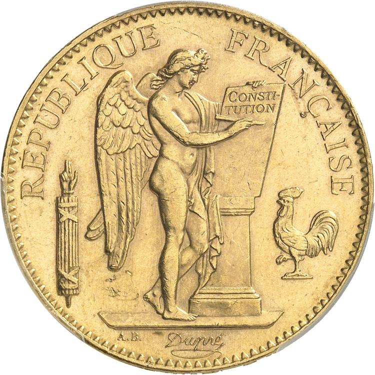 FRANCE III° République (1870-1940). 100 francs or 1905, Paris.