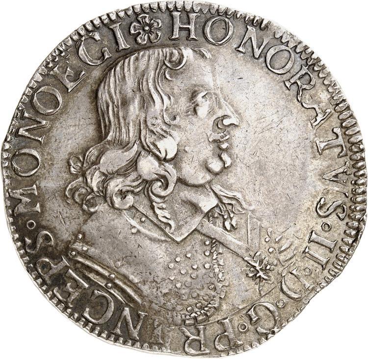 MONACO Honoré II (1604-1662). Écu 1649.