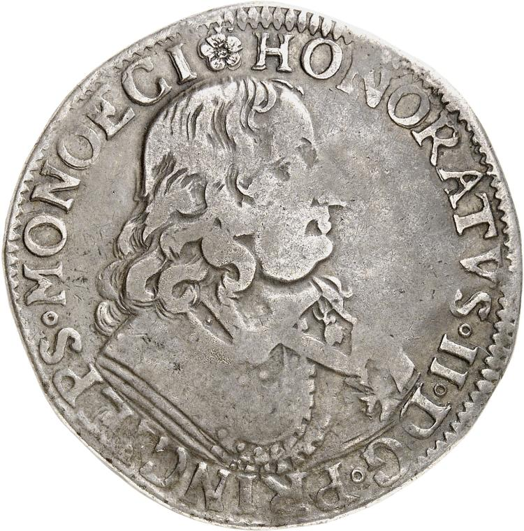 MONACO Honoré II (1604-1662). Écu 1650.