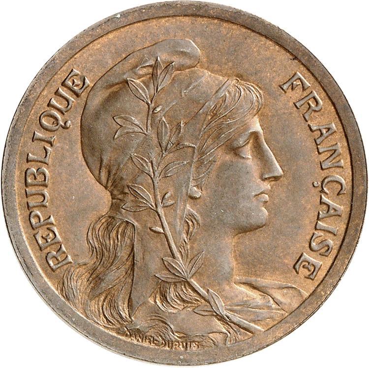 FRANCE III° République (1870-1940). 10 centimes Dupuis 1897, pré-série, buste à droite.