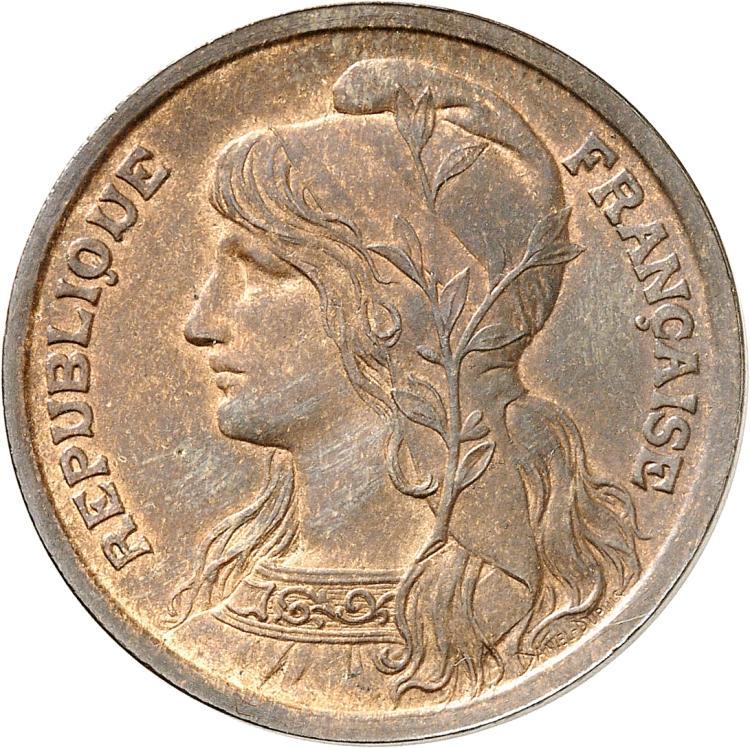 FRANCE III° République (1870-1940). 10 centimes Dupuis 1897, pré-série buste à gauche.