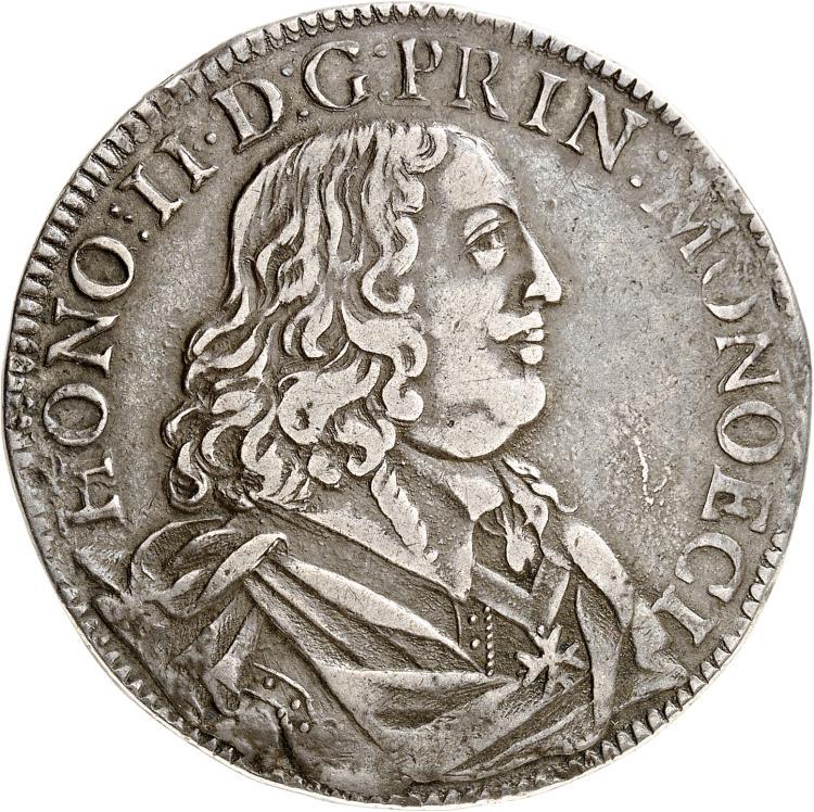 MONACO Honoré II (1604-1662). Écu 1652.