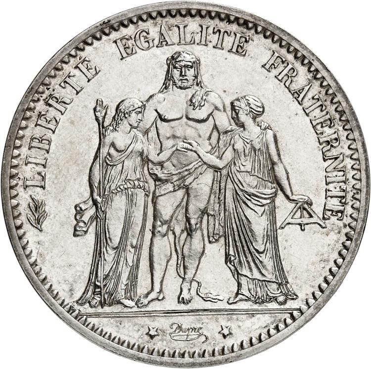 FRANCE V° République (1959- à nos jours). 10 francs 1964, pré-série sans le mot essai.