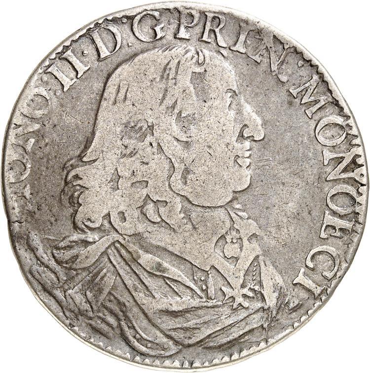 MONACO Honoré II (1604-1662). Ecu, 1653.