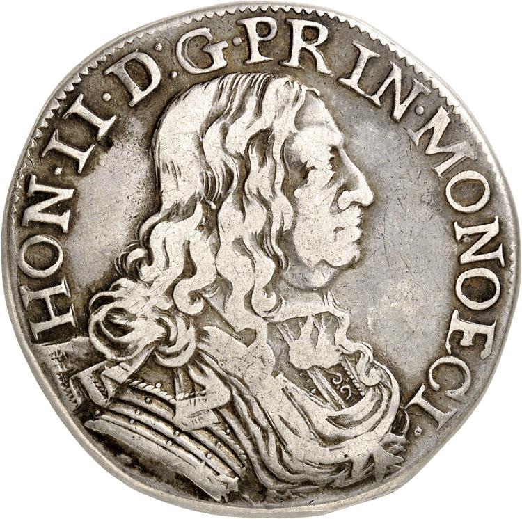 MONACO Honoré II (1604-1662). Écu 1654.