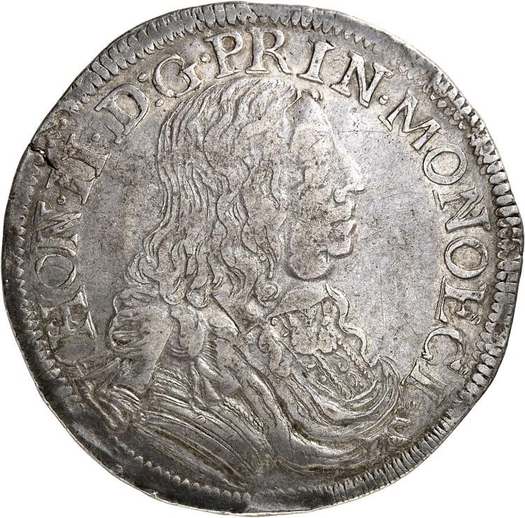 MONACO Honoré II (1604-1662). Écu 1656.