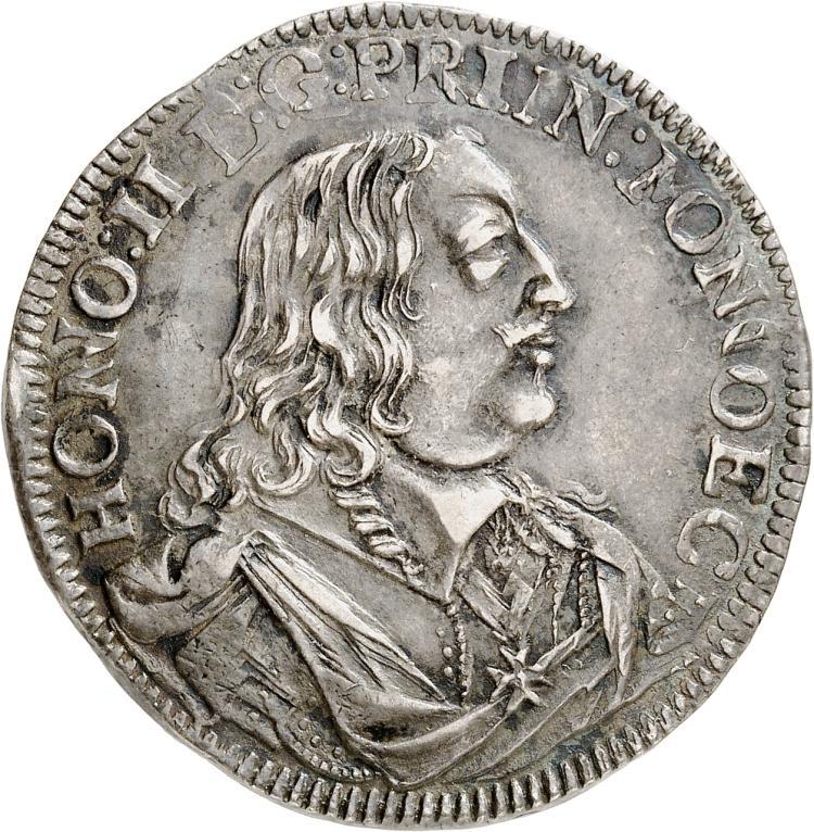 MONACO Honoré II (1641-1662). ½ écu 1652.