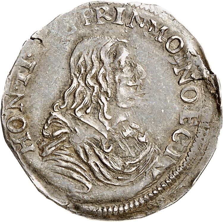MONACO Honoré II (1604-1662). 1/12 d'écu 1659.