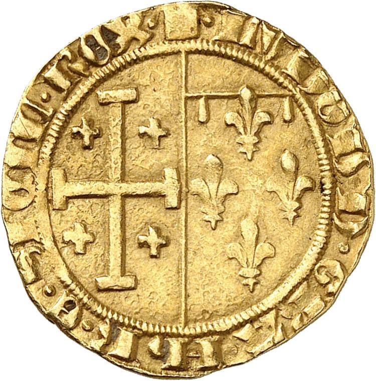FRANCE FÉODALE Comté de Provence, Louis III (1417-1434). Florin d'or, Tarascon.