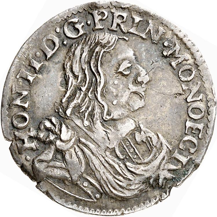 MONACO Honoré II (1604-1662). 1/12 d'écu 1660.