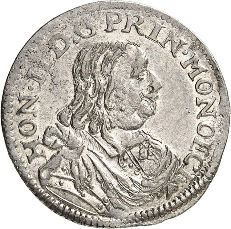 MONACO Honoré II (1604-1662). 1/12 d'écu 1661.